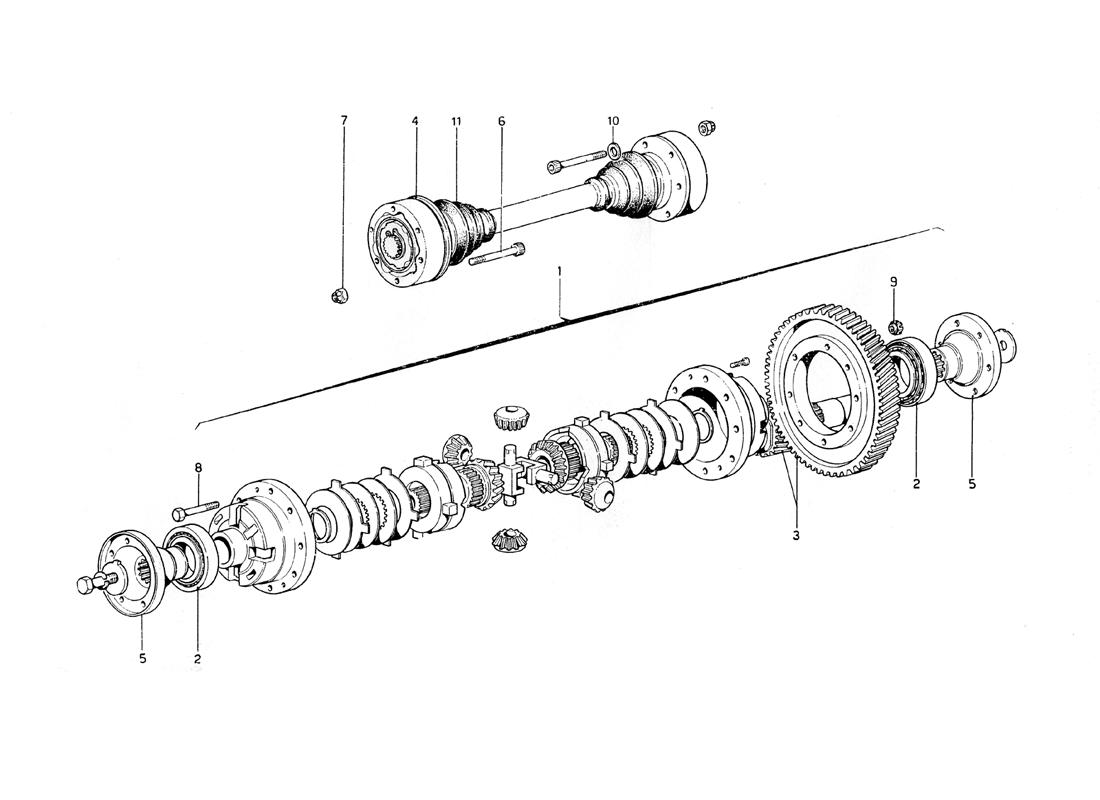 DIFFERENTIAL AND AXEL SHAFT