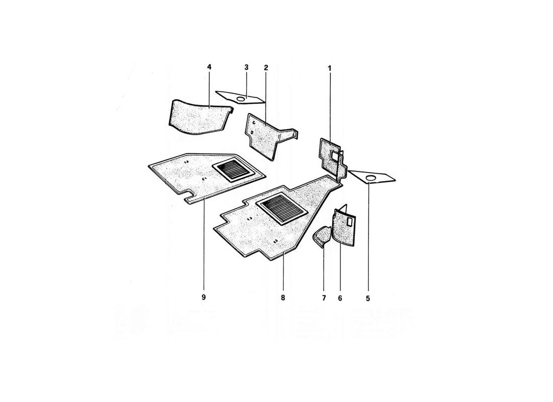 CARPETING (VARIANTS FOR RHD - AUS VERSIONS)