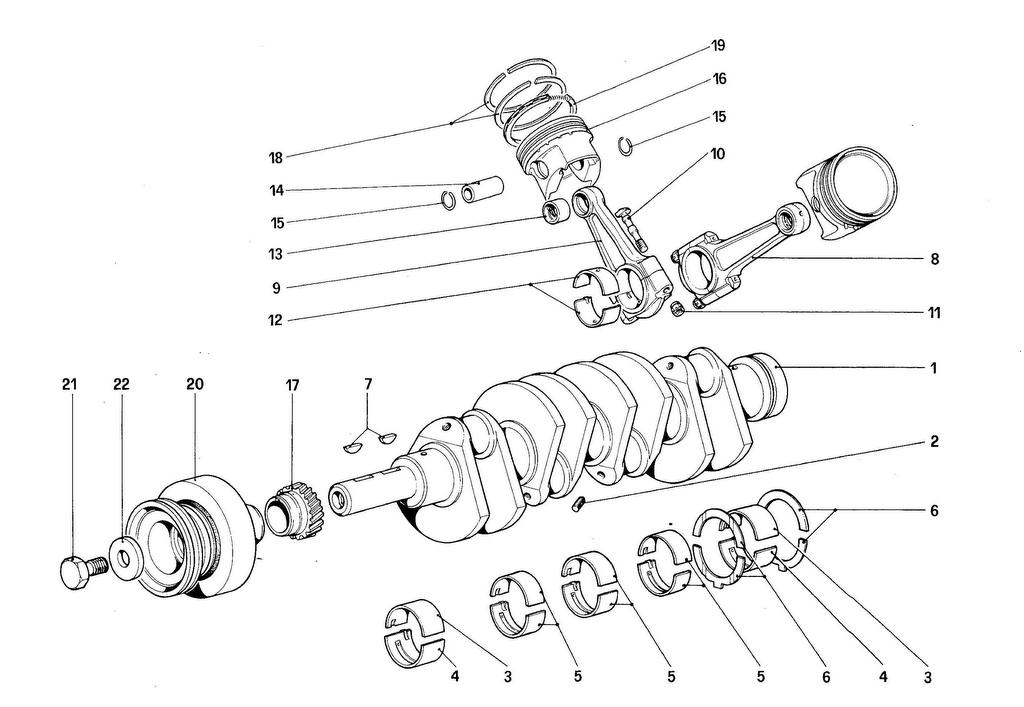 CRANKSHAFT – CONNECTING RODS AND PISTONS