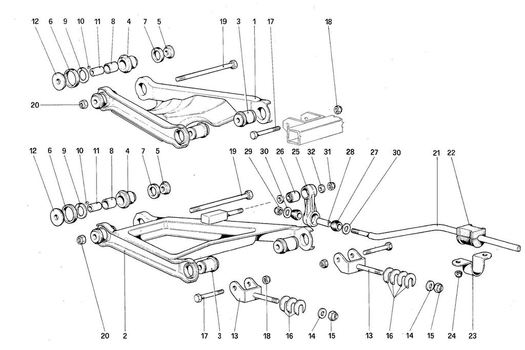 REAR SUSPENSION – WISHBONES