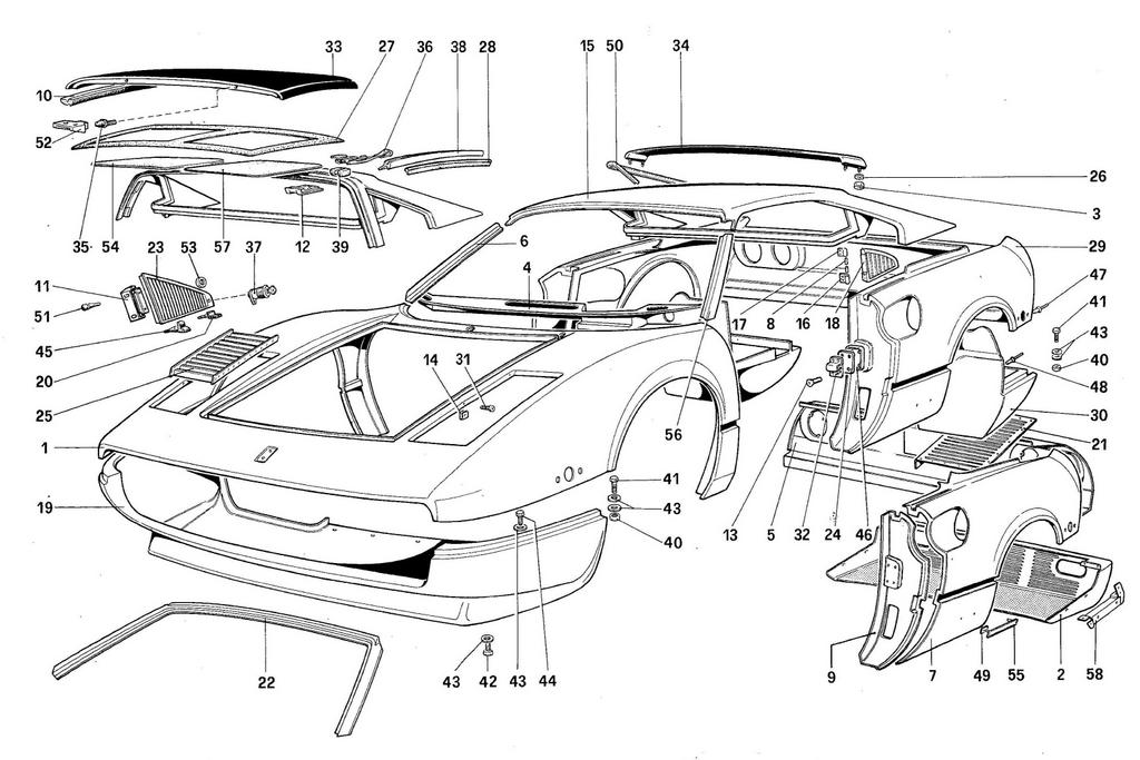 BODY SHELL – OUTER ELEMENTS