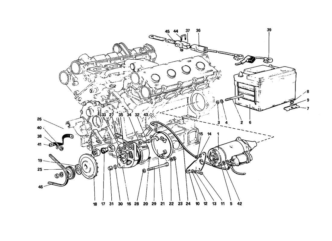 ELECTRIC GENERATING SYSTEM (ENGINE WITH SINGLE BELT)
