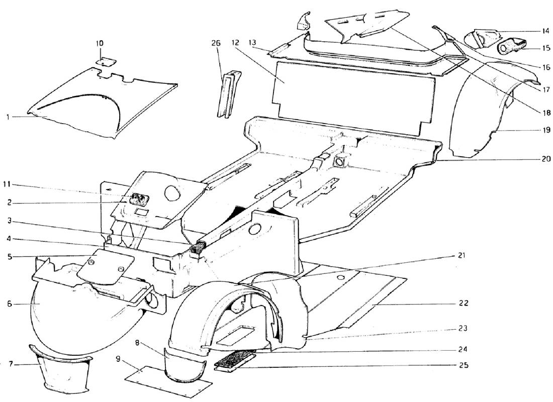 BODY SHELL - INNER ELEMENTS (VALID FOR RHD - AUS VERSIONS)