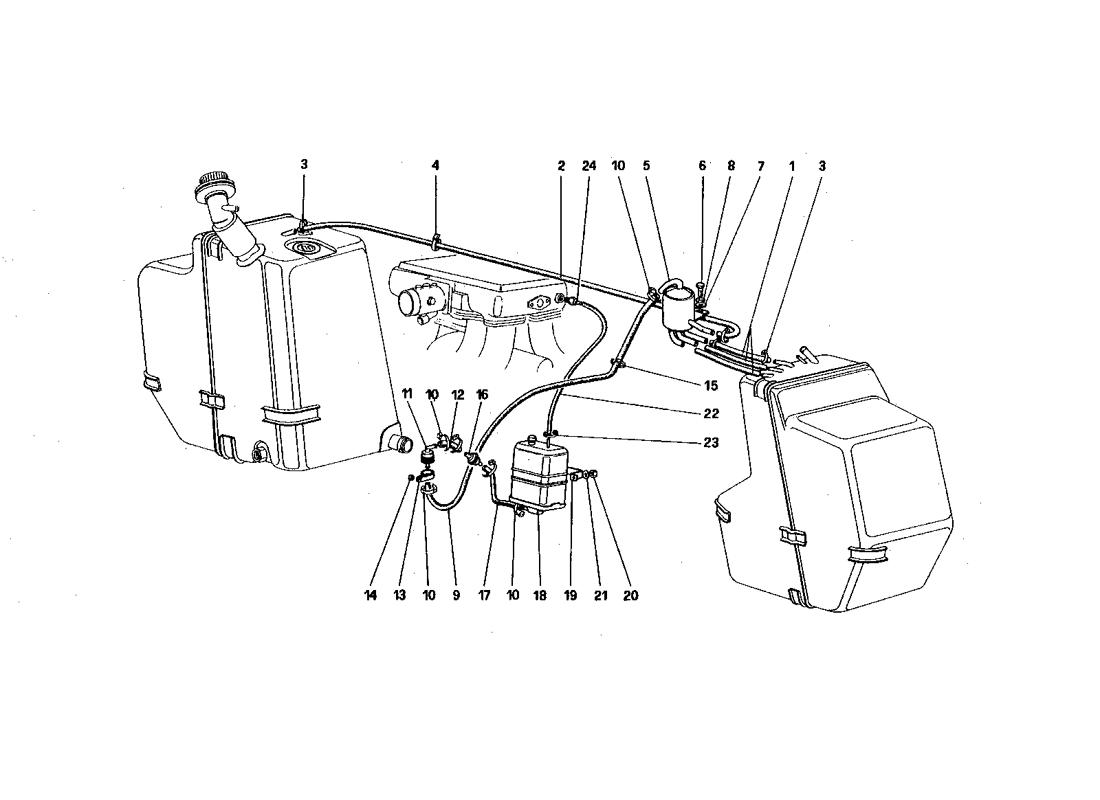 ANTIEVAPORATIVE EMISSION CONTROL SYSTEM (FOR U.S. AND SA VERSION)
