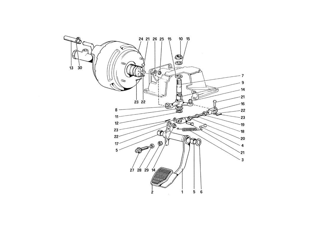 BRAKE HYDRAULIC SYSTEM (VARIANTS FOR RHD VERSION)