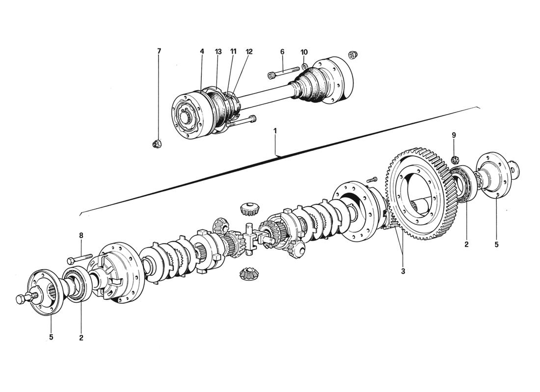 DIFFERENTIAL AND AXEL SHAFTS