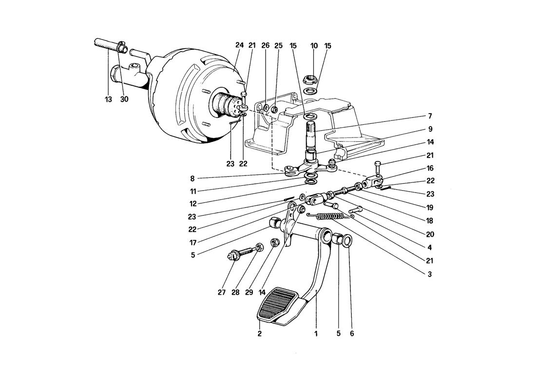 BRAKE HYDRAULIC SYSTEM (FOR CAR WITHOUT ANTISKID SYSTEM - VARIANTS FOR RHD VERSION)