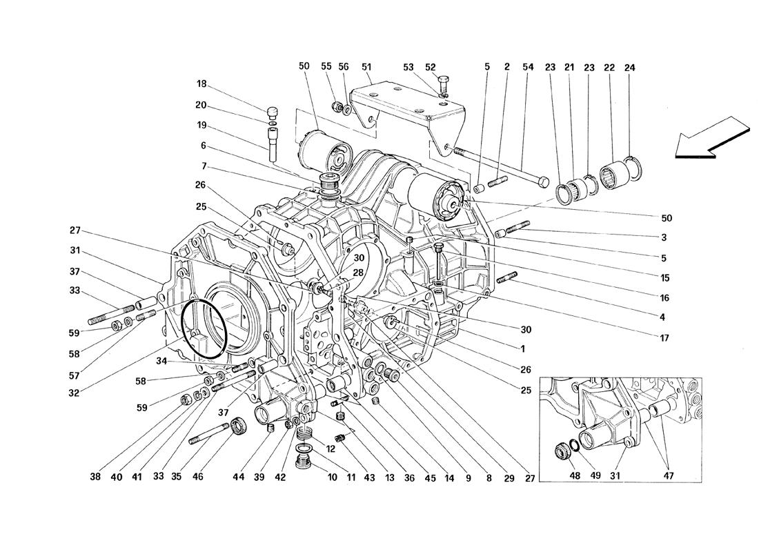 GEARBOX - DIFFERENTIAL HOUSING AND INTERMEDIATE CASING