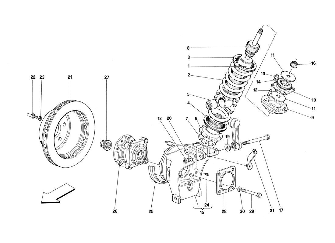 REAR SUSPENSION - SHOCK ABSORBER AND BRAKE DISC - VALID TILL CAR ASS. NR. 8798