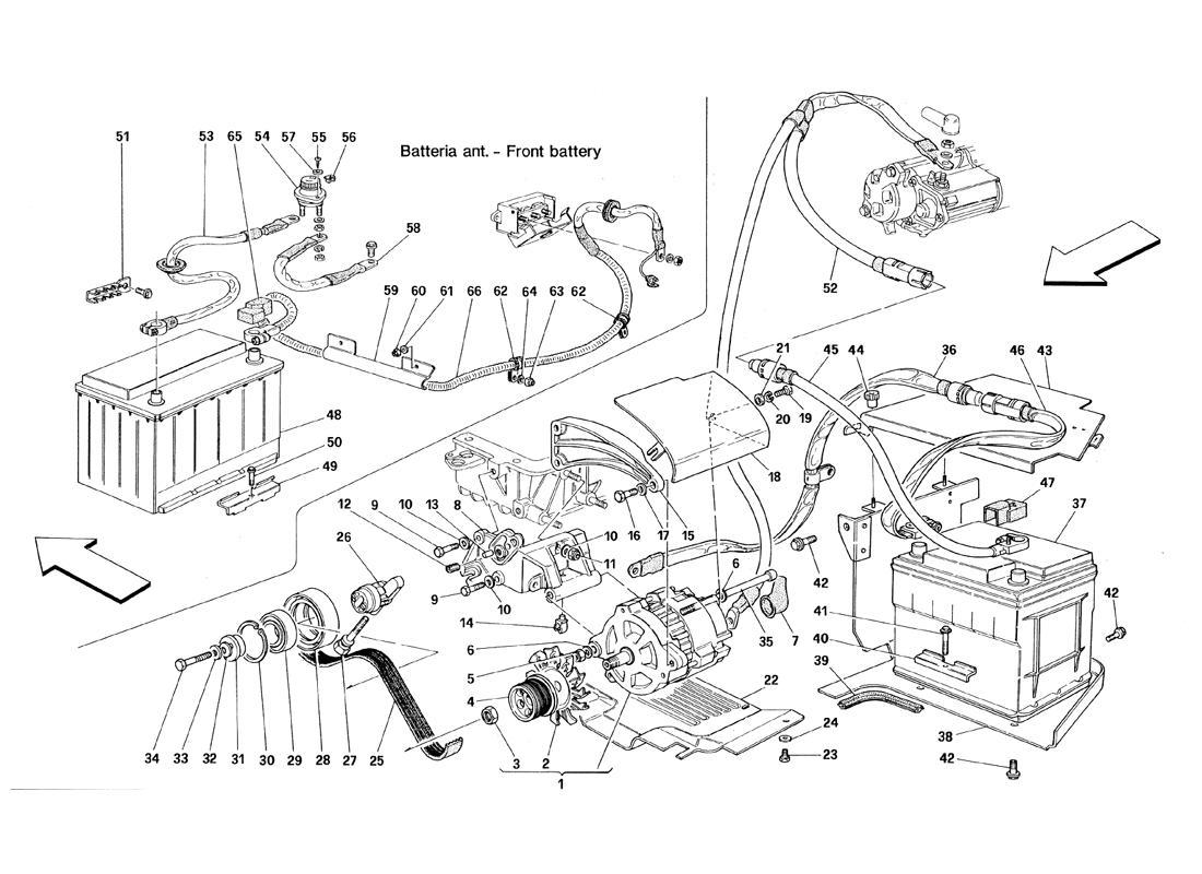CURRENT GENERATOR (VALID TILL ENGINE NR. 30737) - BATTERY