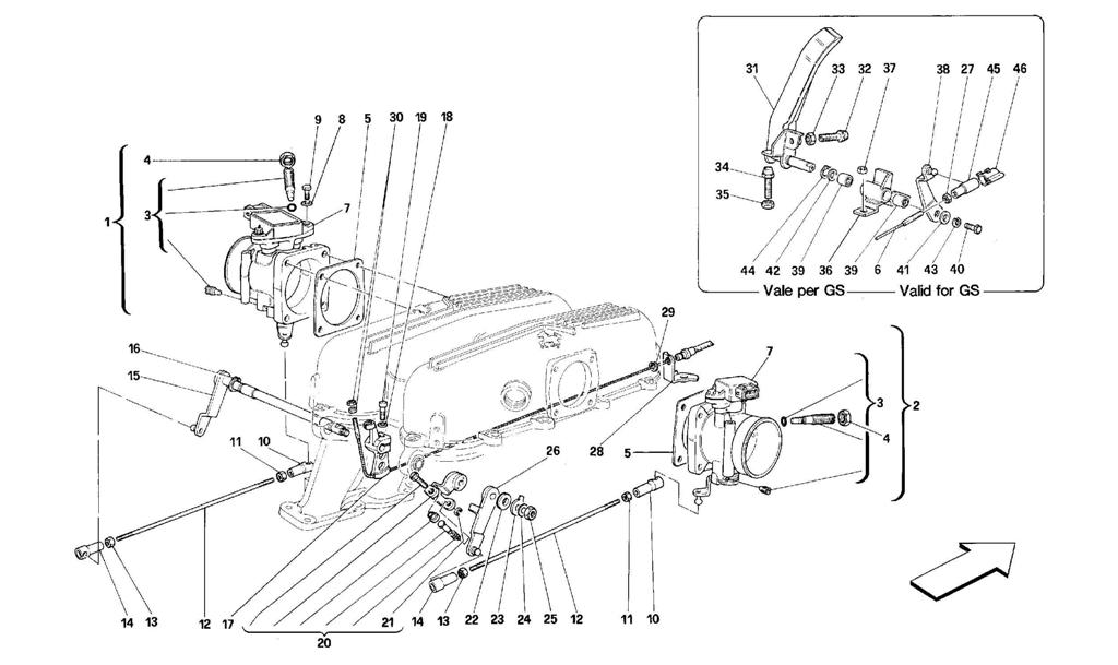 THROTTLE HOUSING AND LINKAGE
