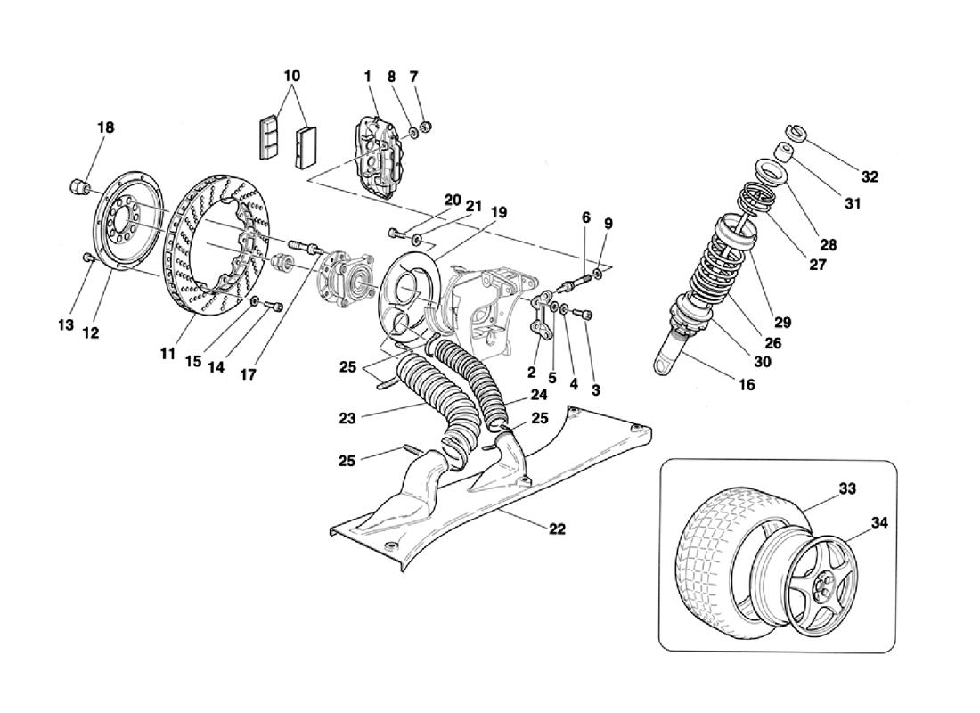 BRAKES - SHOCK ABSORBERS - REAR AIR INTAKE - WHEELS