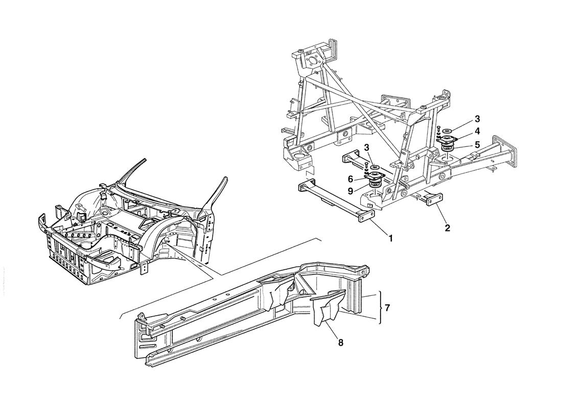 ENGINE SUPPORTS - CHASSIS AND BODY ELEMENTS