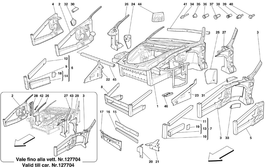 FRAME - FRONT ELEMENTS STRUCTURES AND PLATES