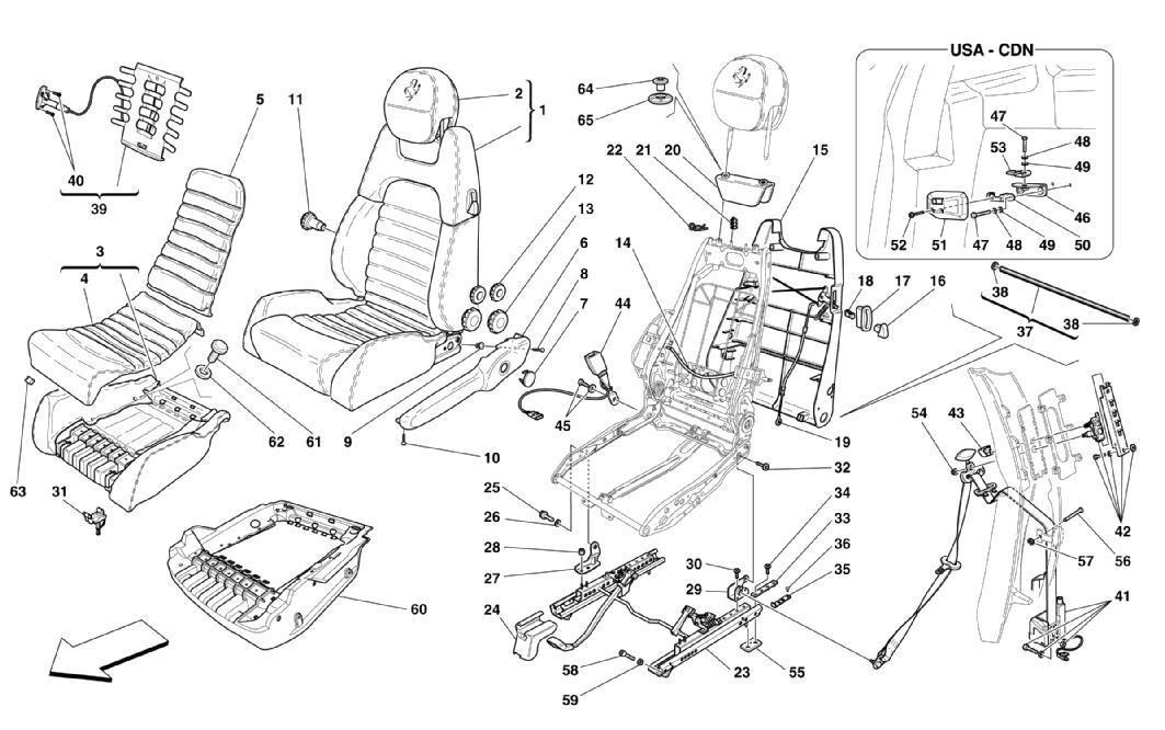 MANUAL SEAT - SAFETY BELTS