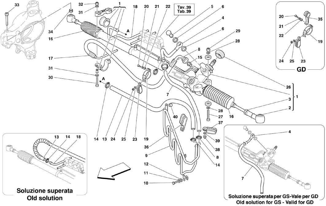 HYDRAULIC STEERING BOX AND SERPENTINE