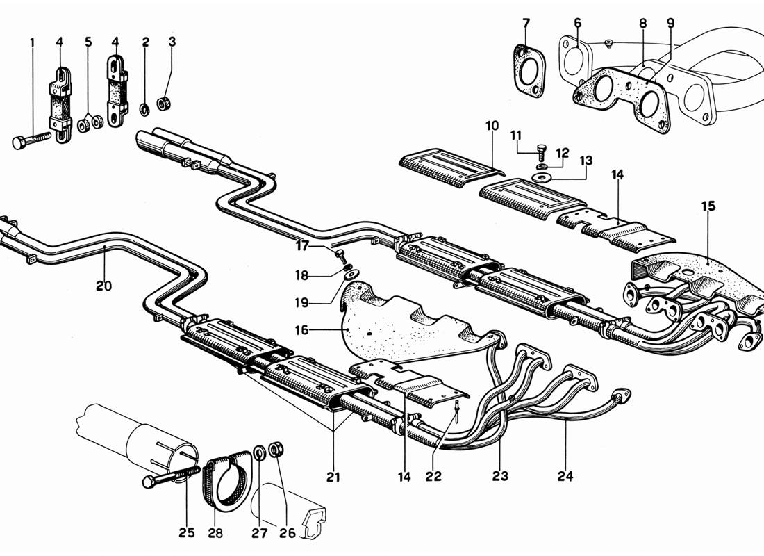 EXHAUST PIPES ASSEMBLY