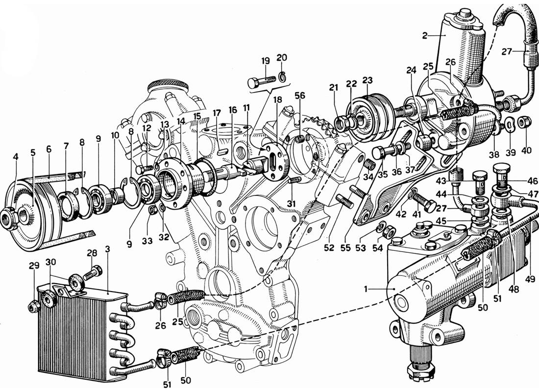 HYDRAULIC STEERING PUMP AND CONTROLS