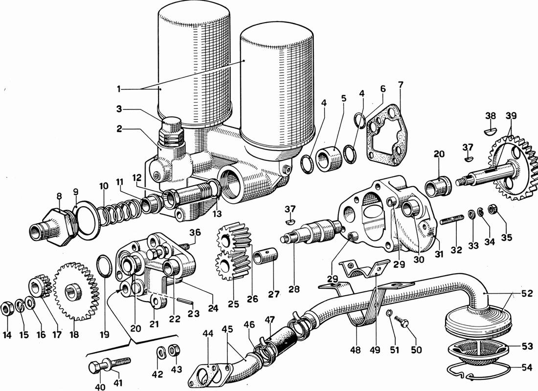 OIL PUMP AND FILTERS