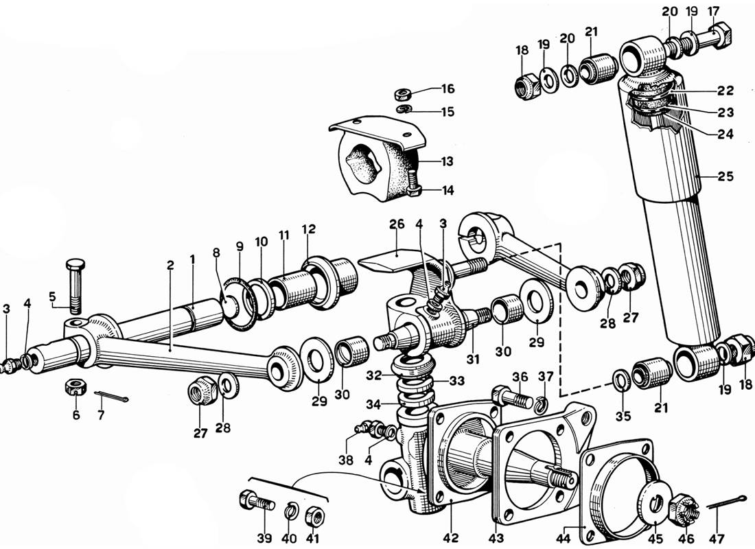 FRONT WHEEL SUSPENSION - UPPER ARMS