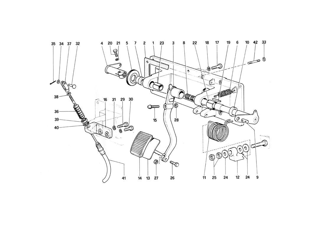 CLUTCH RELEASE CONTROL (400 GT - FOR RHD)