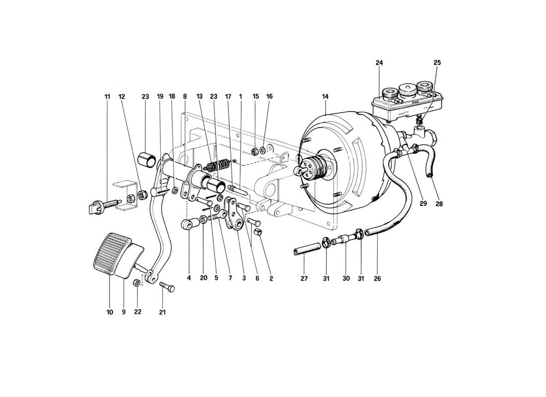 BRAKES HYDRAULIC CONTROLL (400 GT - FOR RHD)
