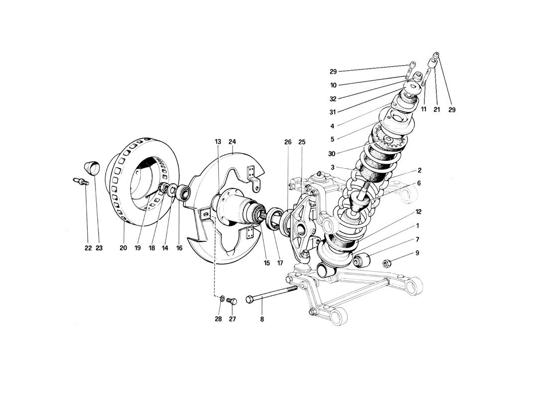 FRONT SUSPENSION - SHOCK ABSORBER AND BRAKE DISC