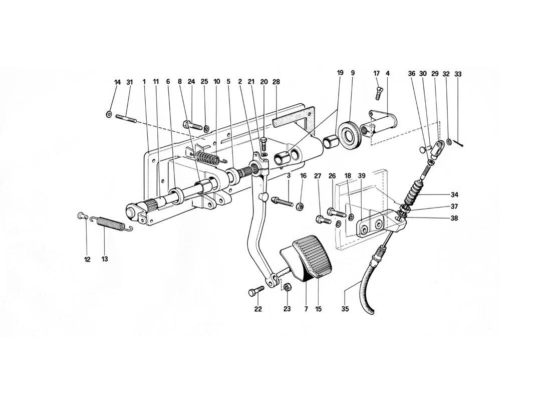 CLUTCH RELEASE CONTROL - 412 M. LHD