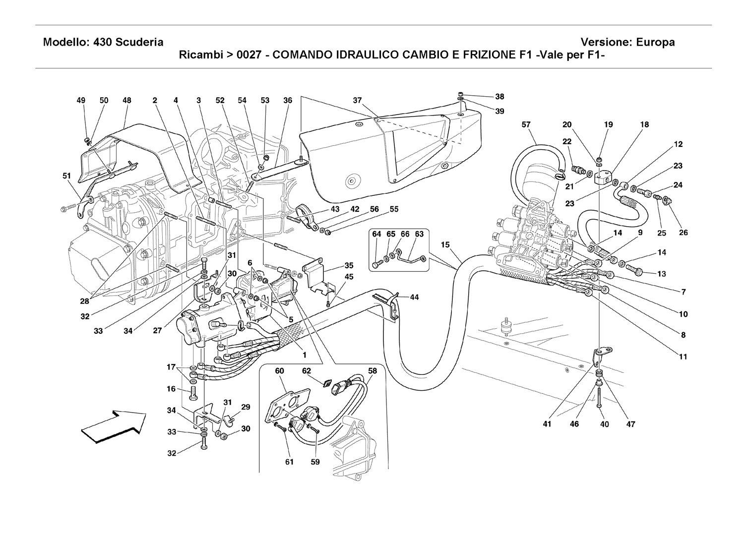 F1 CLUTCH AND GEARBOX HYDRAULIC CONTROL -Valid for