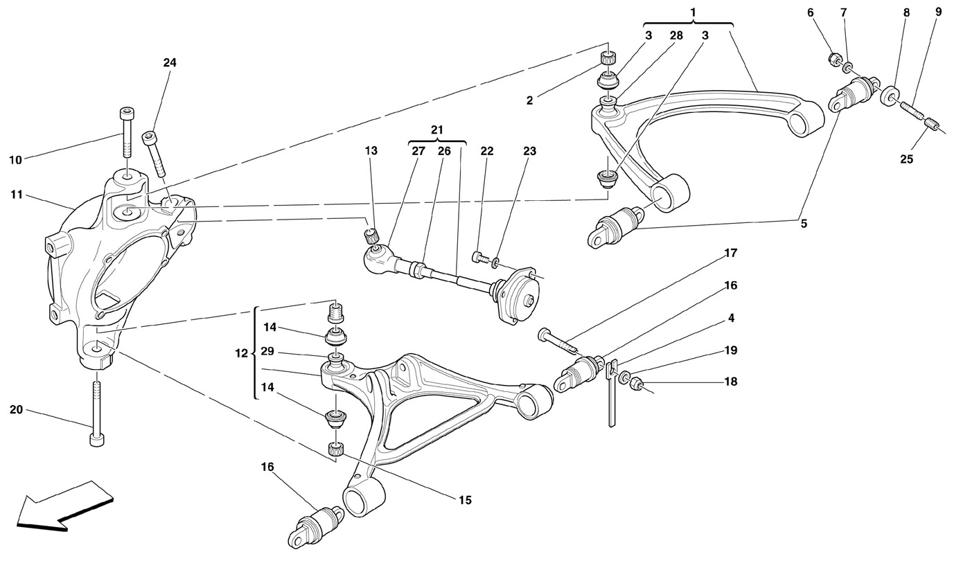 REAR SUSPENSION - WISHBONES