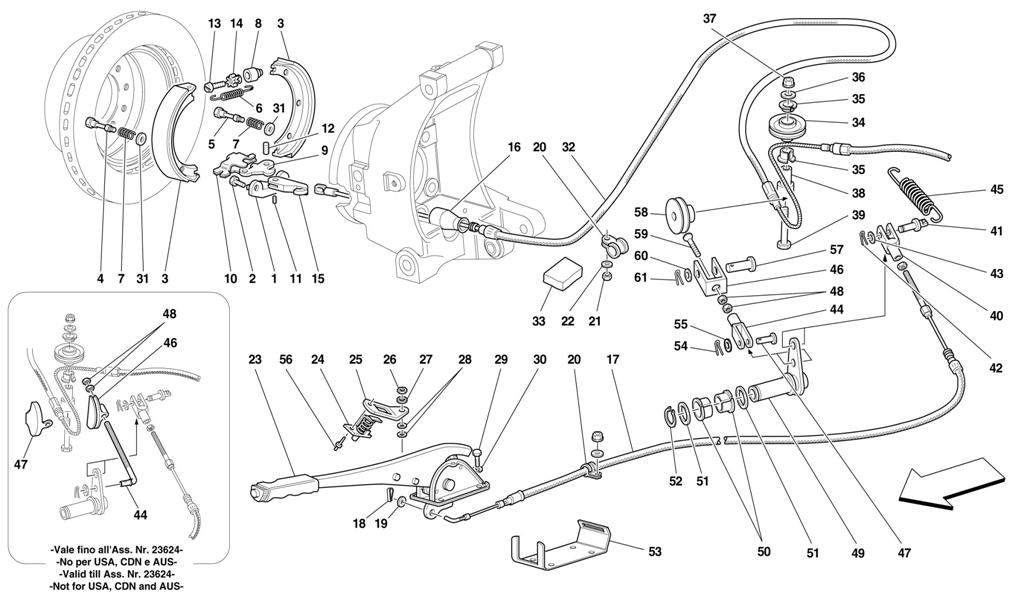 HAND-BRAKE CONTROL -VALID FOR 456 GTA