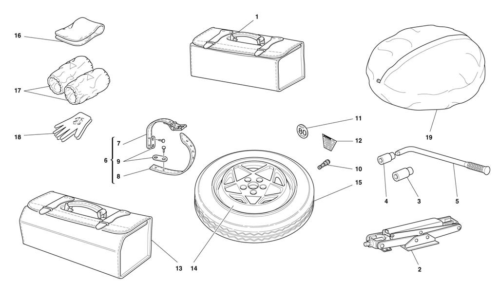 SPARE WHEEL AND EQUIPMENT -OPTIONALS-