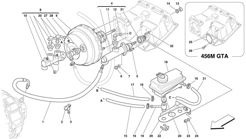 BRAKE AND CLUTCH HYDRAULIC SYSTEM -NOT FOR RHD