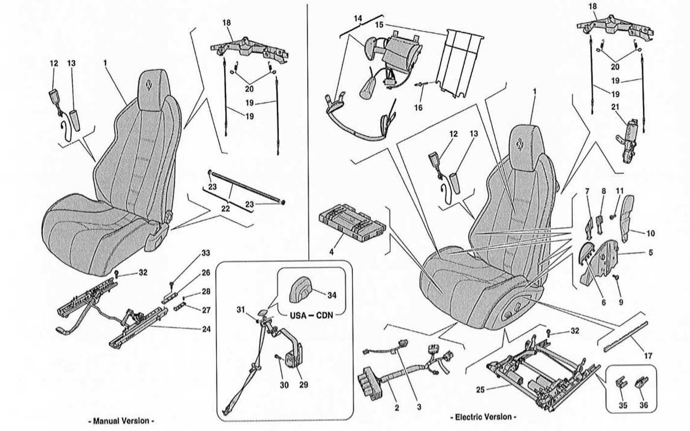 SEATS - SEAT BELTS AND GUIDES AND ADJUSTMENT