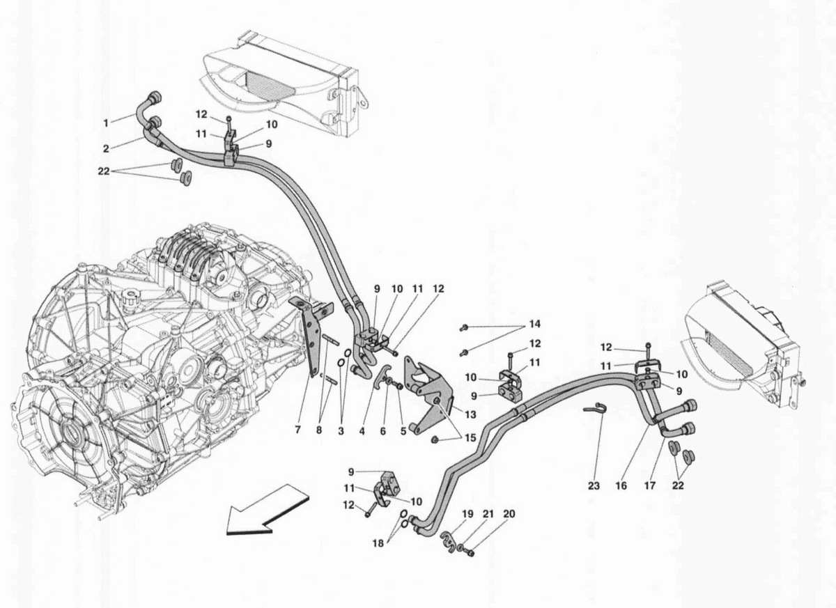 GEARBOX OIL COOLING AND LUBRICATION