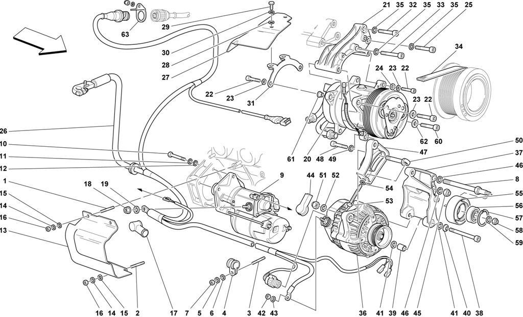 ALTERNATOR - STARTING MOTOR - AIR CONDITIONING COMPRESSOR