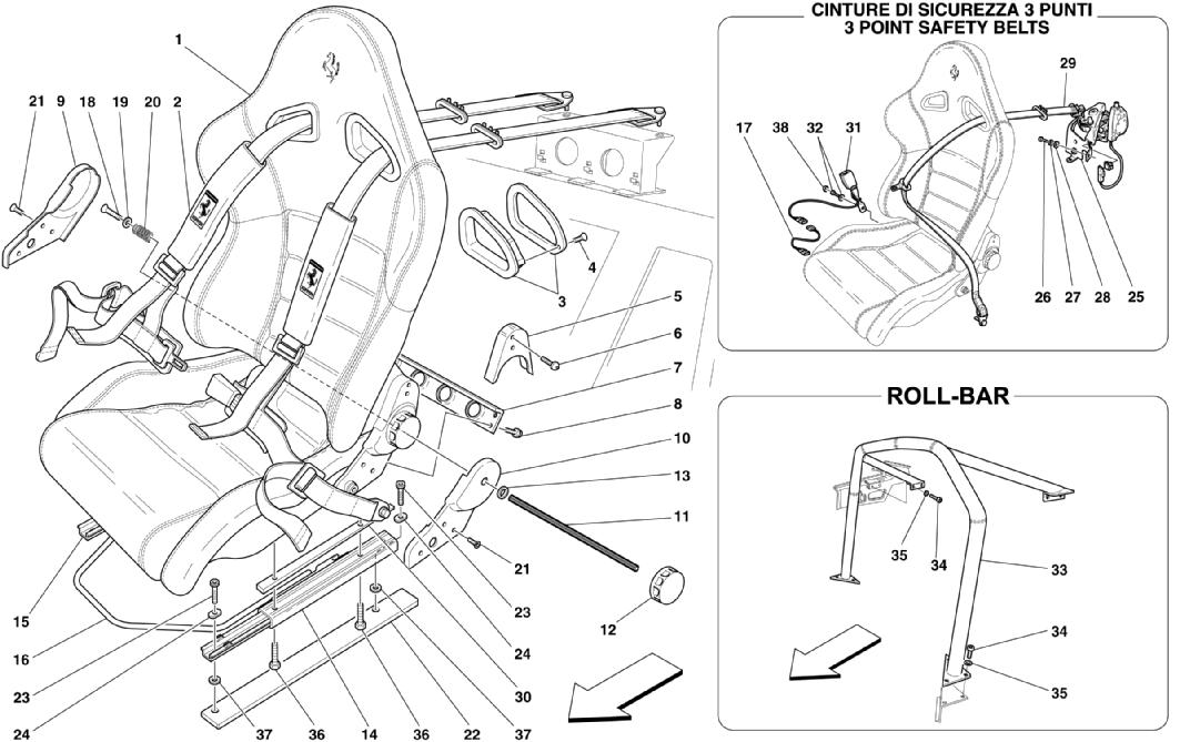 SPORT SEAT-4 POINT BELTS-ROLL BAR