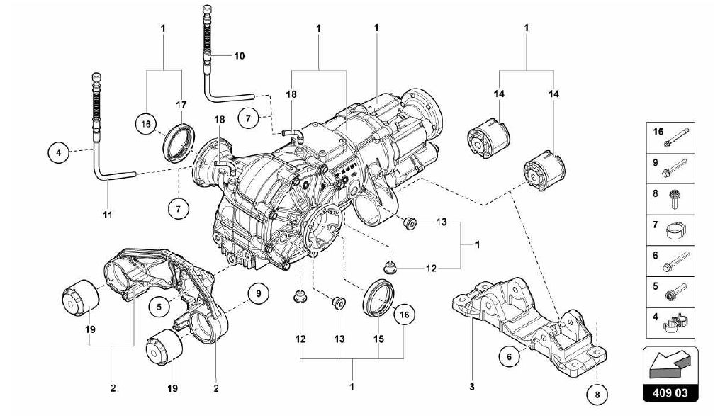 409.03.00-FRONT DIFFERENTIAL ASSEMBLY