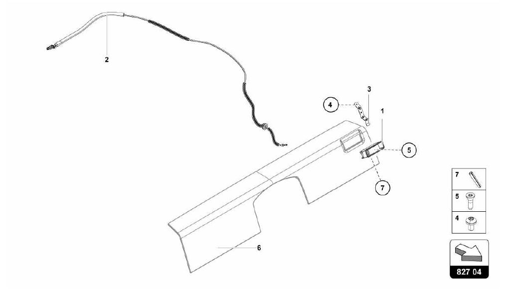 827.04.00-RELEASE LEVER FOR REAR LID
