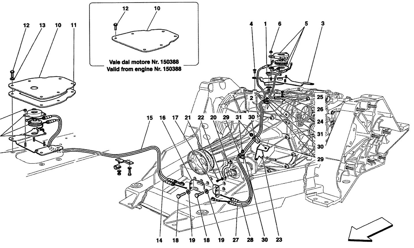 MANUAL RELEASE CONTROL FOR DCT GEARBOX