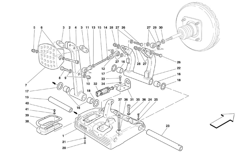 PEDALS - BRAKE PEDAL