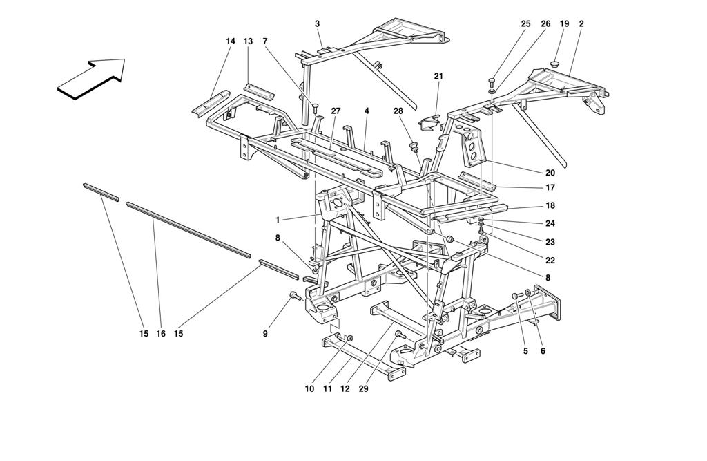 FRAME - REAR PART ELEMENTS