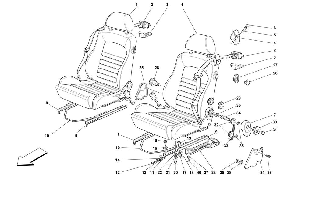 SEATS AND SAFETY BELTS -COMFORT-NOT FOR SPIDER-