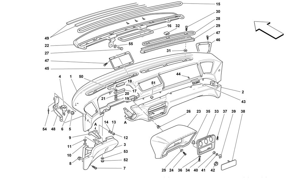 DASHBOARD -VALID FOR AIR-BAG CARS-