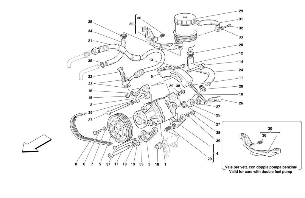 HYDRAULIC STEERING PUMP -VALID FOR STEERING BOX WITH POWER STEERING CARS-