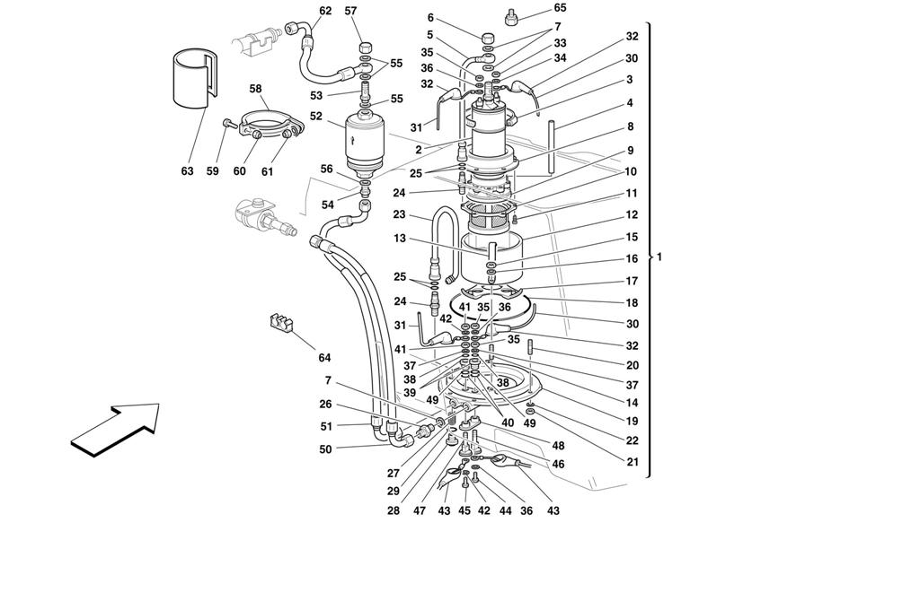 FUEL PUMP AND PIPES -VALID FOR CARS WITH DOUBLE FUEL PUMP-