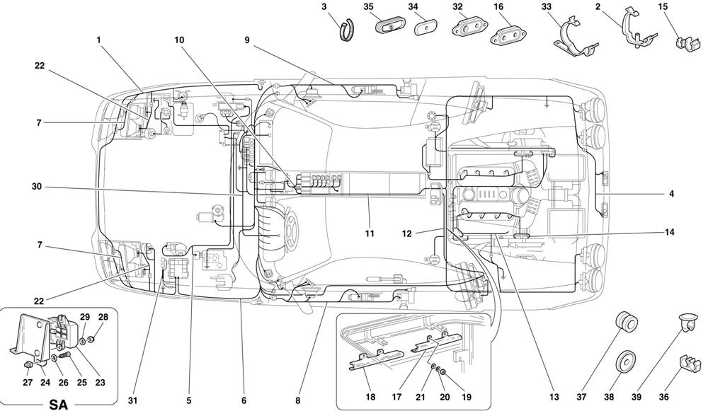 ELECTRICAL SYSTEM -NOT FOR ABS BOSCH AND 355 F1 CARS-