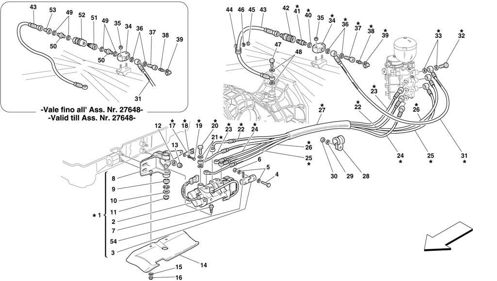 F1 CLUTCH HYDRAULIC CONTROL -VALID FOR 355 F1 CARS-
