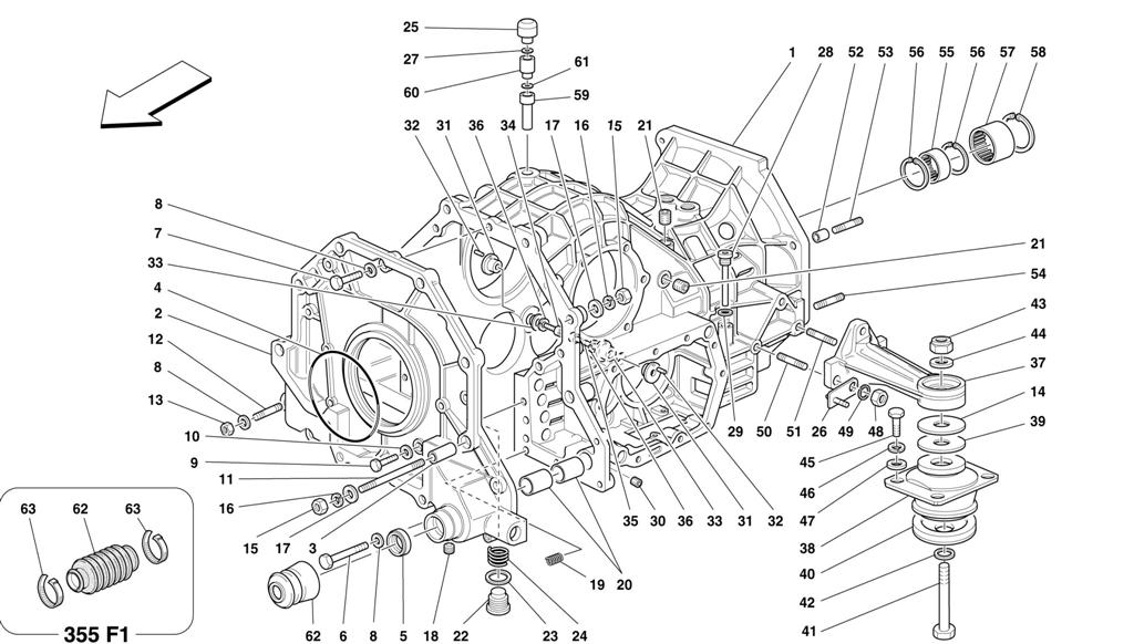 GEARBOX/DIFFERENTIAL HOUSING AND INTERMEDIATE CASING