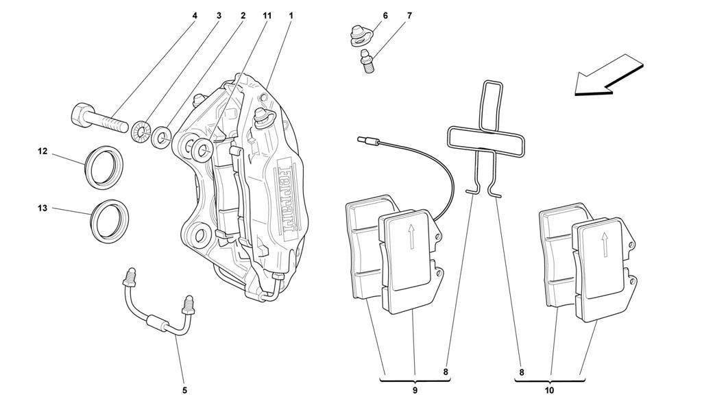 CALIPERS FOR FRONT AND REAR BRAKES